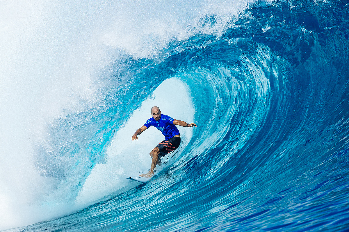 2871519fef Caption  11-time WSL Champion Kelly Slater (USA) competes at the Championship  Tour event in Fiji in 2016. Credit  © WSL   Sloane